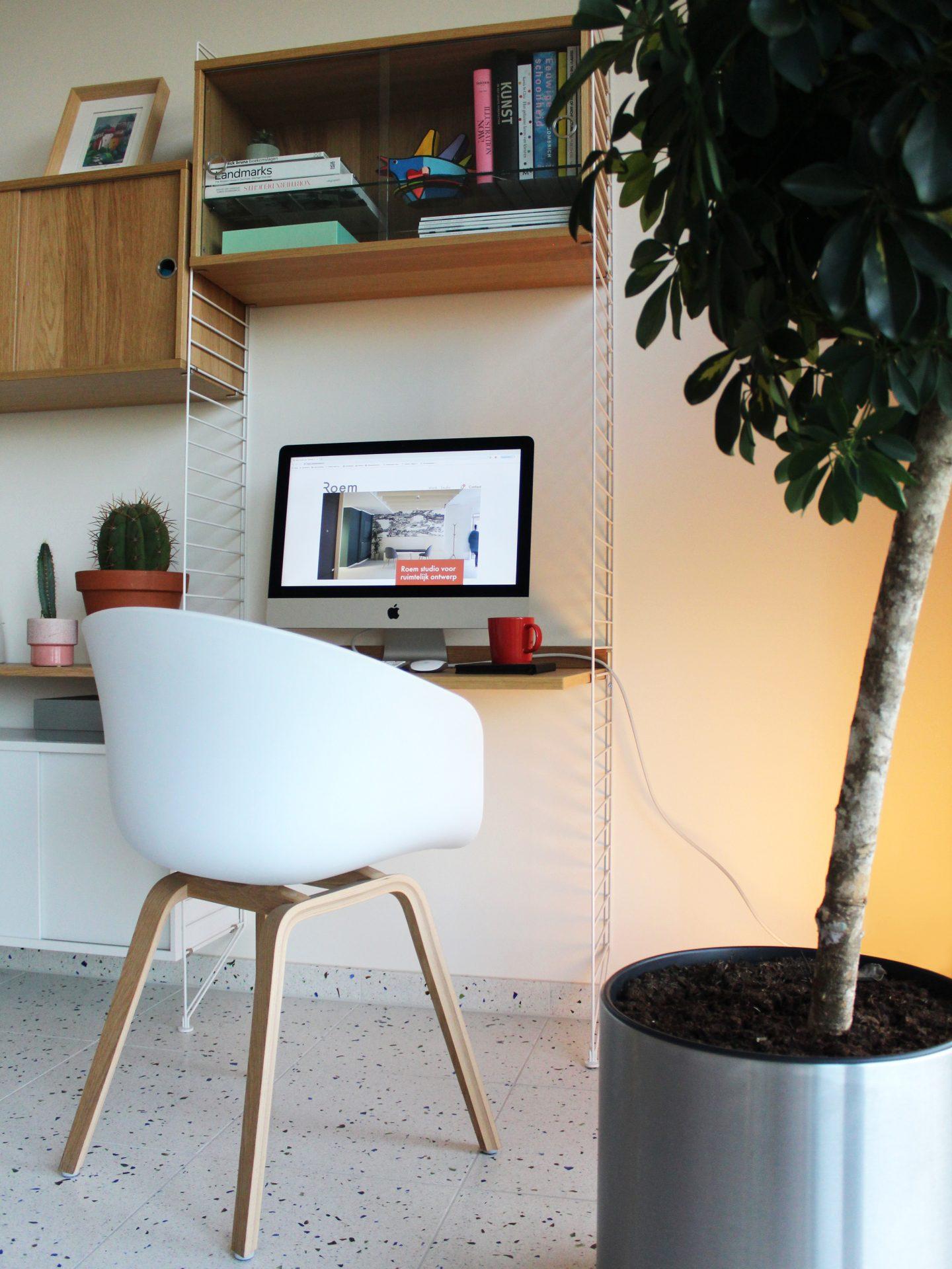 wandkast met thuiswerk bureau